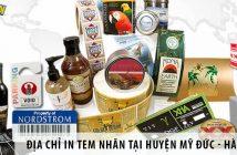 Địa chỉ in tem nhãn decal giá rẻ tại huyện Mỹ Đức - Hà Nội