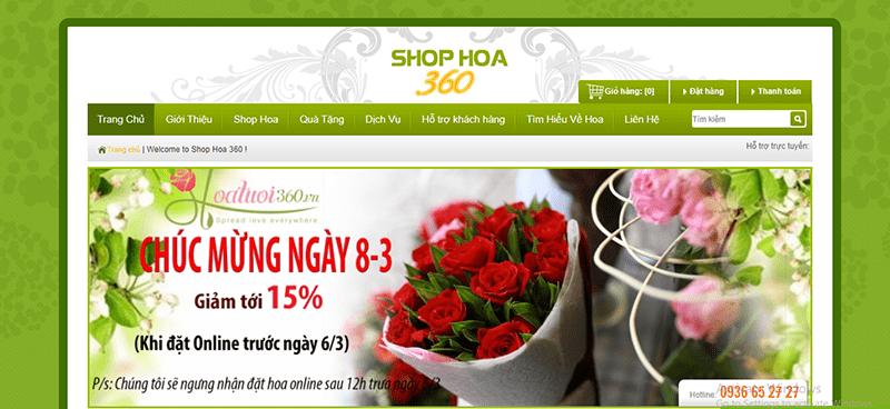 Cửa hàng hoa 360