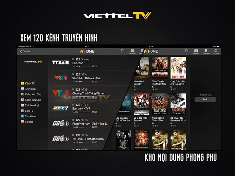 ViettelTV là ứng dụng xem truyền hình trên Smart TV rất phổ biến
