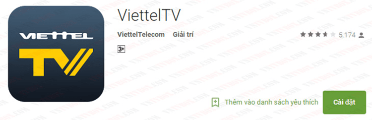 """Chọn mục Giải trí > Tìm kiếm """"viettel"""" > Chọn ứng dụng > Tải về."""