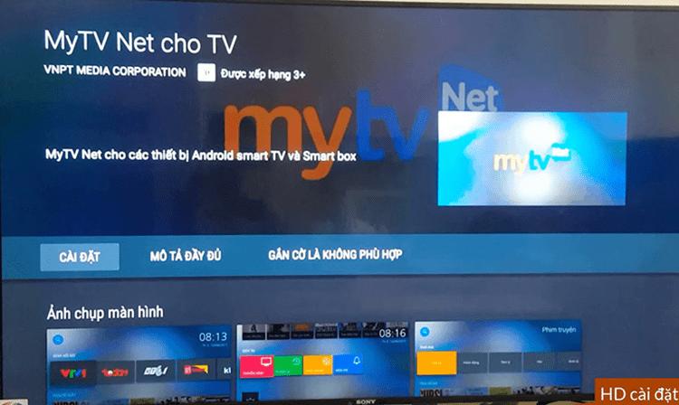 Chọn biểu tượng MyTV > Tải xuống.