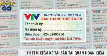 Xưởng in tem kiểm kê tài sản quận Hoàn Kiếm in nhanh, giá rẻ