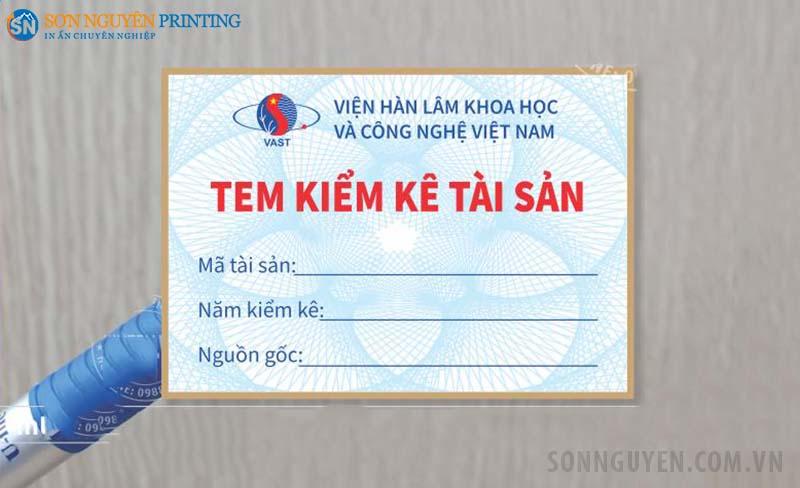 Mẫu in tem kiểm kê tài sản